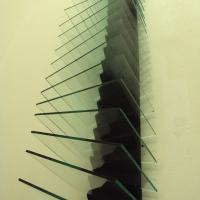 glass, wood